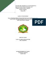 Asuhan Kebidanan Ibu Nifas Terhadap Ny. E Usia 30 Tahun P2A0  1 Minggu Post Partum Dengan Bendungan ASI  di BPS Usmalana Sadam, Amd.Keb  Bandar Lampung  Tahun 2015