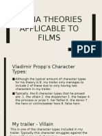 media theories eg vladimir propp