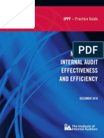 Measuring Internal Audit Effectiveness