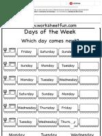 Days of the Week Worksheet _ Printable Worksheets _ Pinterest _ Hojas de Cálculo