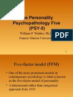 The Personality Psychopathology Five