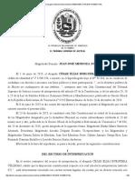 Sentencia del TSJ sobre partidos políticos de enero 2016