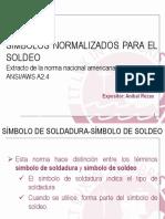 Simbolización de Soldaduras Aws 2.4