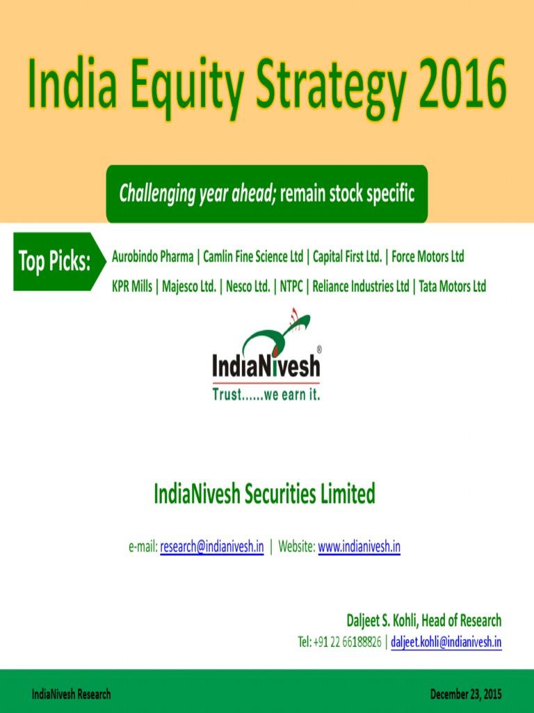 Indianivesh Top 10 Stocks 2016 Monetary Policy Stocks