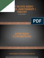unit 58 dvd menu design  assignment 1
