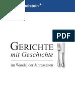 Broschüre Gerichte Mit Geschichte