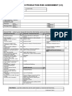 Risk Assessment Proforma
