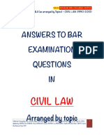 Civil Law Suggested Answers  (1990-2010)