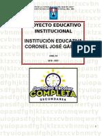 Proyecto Educativo 2016 - 2021