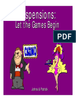 Pp t Suspensions Let the Games