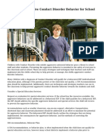 Managing Aggressive Conduct Disorder Behavior for School Safety