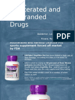 Example of Adulterated and Misbranded Drugs