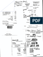 January 7, 2016 - ACCIDENT FILE With Reciepts and Notes for Trip to U.S. Attorney Office and Criminal Fraud Unit of PA Atty General in Harrisburg PA Re Nationwide Insurance Fraud