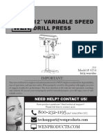 WEN 4214 12-Inch Variable Speed Drill Press Manual