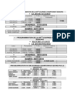 Programmation de La 08emejournee Championnat Seniors