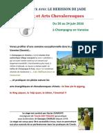 Stage d'ete 2016 de l'association le Hérisson de Jade