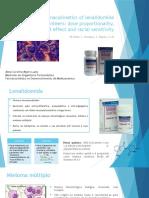 Single-dose Pharmacokinetics of Lenalidomide in Healthy Volunteers