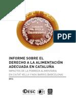 Informe sobre el derecho a la alimentación adecuada en Cataluña