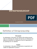 Enterpreneurship