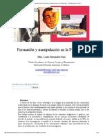 Laura Hernández Ruiz_ Persuasión y Manipulación en La Publicidad - Nº 30 Espéculo (UCM)