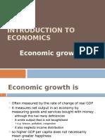 Introduction to economics - Economic Growth