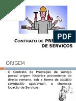 Contrato de Prestação de Serviço e Empreitada