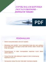 4. Hubungan Etnik Dalam Konteks Pembangunan Ekonomi - Mikro (MH)