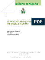 Banking Reforms in Nigeria