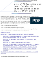 Note Circulaire Num 707 1999-2000