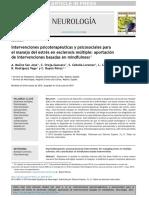 Intervenciones psicoterapéuticas y psicosociales para el manejo del estrés en esclerosis múltiple