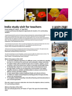 India Study Visit Info Easter 2016