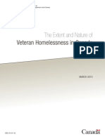 The Extent and Nature of Veteran Homelessness in Canada