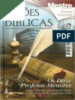 Lições Bíblicas CPAD 4º Trimestre de 2012