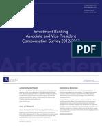 Arkesden Associate and Vice President Compensation Survey 2012-2013