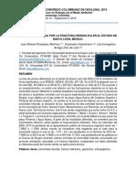 Sismicidad inducida por la fractura hidráulica en el estado de Nuevo León, México.