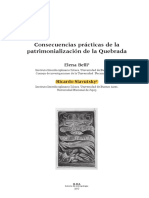 Belli y Slavutsky - Consecuencias Prácticas de La Patrimonialización de La Quebrada