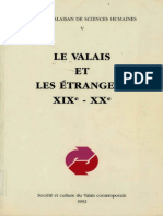 LE VALAIS ET LES ÉTRANGERS XIXe - XXe Société