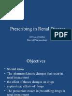 Prescribing in Renal Disease