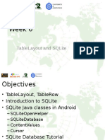 Android and SQLite