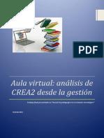 Aula Virtual- Análisis de CREA2 Desde La Gestión