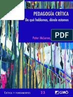 Pedagogia-critica de Peter Mclaren.