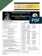 Pittsburgh Steelers at Cincinnati Bengals (AFC Wild Card Jan. 9)
