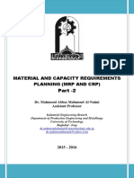Material and Capacity Requirements Planning (MRP and CRP) Part -2