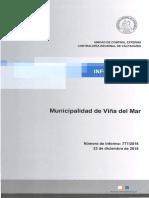 Informe Final 777-15 Municipalidad de Viña Del Mar Sobre Auditoría Al Contrato Reposición Parcial Estadio Municipal Sausalito - Diciembre 2015