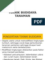 5. Teknik Budidaya Tanaman