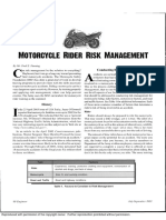Motorcycle Rider Risk Management