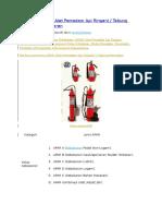 Jenis-Jenis APAR (Alat Pemadam API Ringan) - Tabung Pemadam Kebakaran