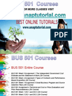 BUS 501 Apprentice tutors / snaptutorial