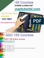 GEO 155 Academic Success /snaptutorial