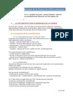 Cours l'Évolution Économique de La France de 1945 à Nos Jours